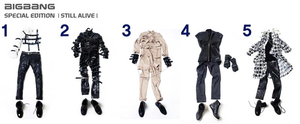 8. 다음은 'still alive'티저 사진이다. 의상과 멤버가 올바르게 연결된 것은?