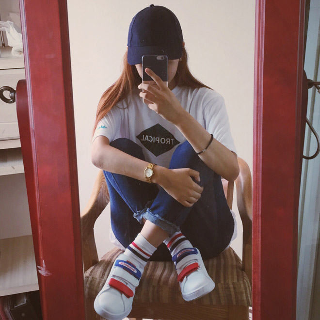 빨강, 파랑, 하양. 센스 있는 삼색 매치! #르꼬그 #10만원대 @ehseong_with9k
