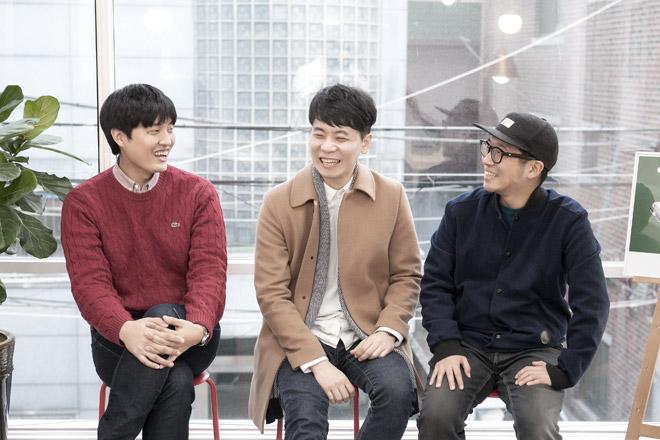 노트폴리오 설립자 현강섭,송진석,홍제용 (왼쪽부터)