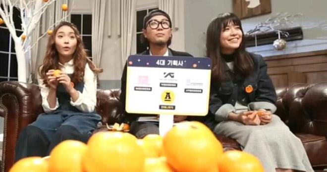 가수 루시드폴이 새앨범 홍보를 위해 귤 모자를 쓰고 홈쇼핑에 출연했다.