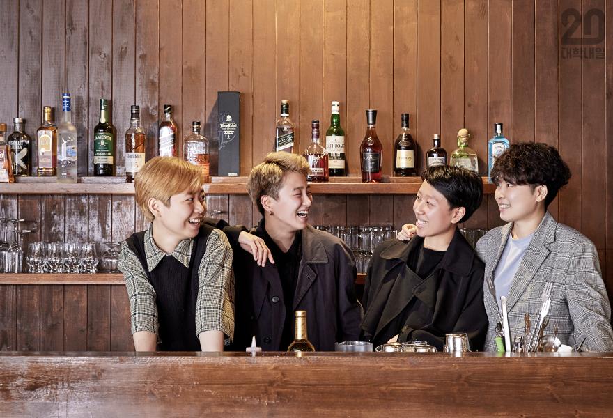 (왼쪽부터) 서솔, 휘슬, 민지, 우나